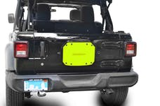 Steinjager Spare Tire Carrier Delete Plate Wrangler JL 2018 to Present Neon Yellow