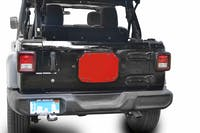 Steinjager Spare Tire Carrier Delete Plate Wrangler JL 2018 to Present Red Baron