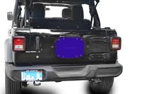 Steinjager Spare Tire Carrier Delete Plate Wrangler JL 2018 to Present Southwest Blue