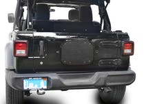 Steinjager Spare Tire Carrier Delete Plate Wrangler JL 2018 to Present Texturized Black