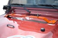 Steinjager High Lift Mount Kit Wrangler TJ 1997-2006 Hood Mount Fluorescent Orange