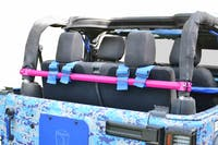 Steinjager Harness Bar Kit Wrangler JK 2007-2018 2 Door Rear Hot Pink