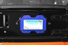 Steinjager Rear License Plate Relocator  Wrangler JL 2018 to Present Southwest Blue