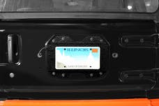 Steinjager Rear License Plate Relocator  Wrangler JL 2018 to Present Texturized Black
