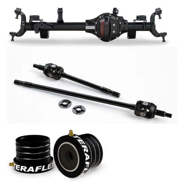 Teraflex Jeep Wrangler JK Rubicon 3545341 Tera44 Rubicon HD Front Axle Housing 4.10 R&P, Includes Front Axle Shaft Kit & High Performance Front Axle Tube Seal
