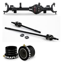 Teraflex Jeep Wrangler JK Rubicon 35453414 Tera44 Rubicon HD Wide Front Axle Housing 4.10 R&P, Includes Front Axle Shaft Kit & High Performance Front Axle Tube Seal