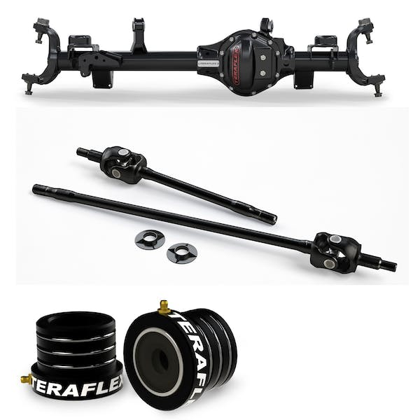 Teraflex Jeep Wrangler JK Rubicon 3545353 Tera44 Rubicon HD Front Axle Housing 5.38 R&P, Includes Front Axle Shaft Kit & High Performance Front Axle Tube Seal