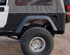 TNT Customs L0CSTK - Jeep LJ Corner Guards No Flare Stock Opening Stock Light Mounts 04-06 Wrangler LJ
