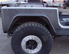 TNT Customs Y3CSTK - YJ Corner Armor 3 Inch Flare Full Length Stock Light Mounts 87-95 Wrangler YJ