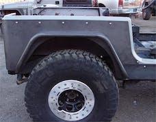 TNT Customs Y6CLED - YJ Corner Armor 6 Inch Flare Full Length 4 Inch LED Cutouts 87-95 Wrangler YJ