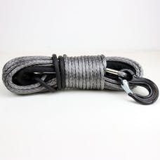 Tuff Stuff Overland TS-SYN-12-GR - 100 Foot x 1/2 Inch Synthetic Winch Rope Gray 21,145 Lb Capacity W/ Rock Guard Black