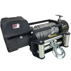 Tuff Stuff Overland TS-12500-CLS - 12,500 LB Winch W/ 92 Foot Wire Gloves & Cover Wireless Classic