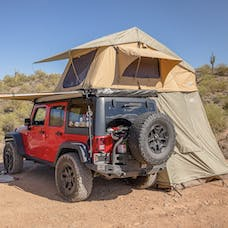 Tuff Stuff Overland TS-RTT-ANX-RAN - Rooftop Tent & Annex Room 3 Person Ranger Overland Sand