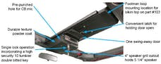 Tuffy Security 142-01 JK Overhead Console; Single Compartment Black; for 2007+JK Wrangler