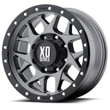 XD Series XD12779050412N - XD127 Matte Gray w/ Black Ring 17x9 5x5