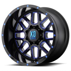 XD Series XD82021050524NBC - GRENADE Wheel Satin Black w/Blue 20x10 5x127