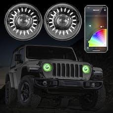 XK Glow XK-7IN-JP-KIT-JL - 2pc RGB LED Jeep Wrangler JL/Gladiator Headlight XKchrome Bluetooth App Controlled Kit w/ Switchback Feature