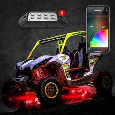 XK Glow XK-ROCK-ADV - 8pc 6W Rock Light with XKchrome Smartphone App-enabled Bluetooth Advanced Kit