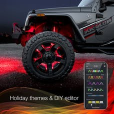 "XK Glow XK-WHEEL-KIT - 4pc 15"" Wheel Ring Light Kit XKchrome App controlled w/ Turn Signal Function"