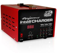 XS Power Batteries 1005 - 12/14/16 Volt IntelliCharger LED indicators plus Digital Voltage/Amperage Gauge