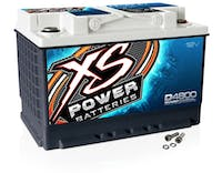 XS Power Batteries D4800 - XS Series 12V 3,300 Amp AGM High Output Battery with M6 Terminal Bolt
