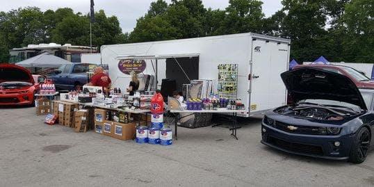Car show setup