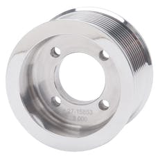 Edelbrock 15853 PULLEY SC E-FORCE TVS2300 10 RIB 3in. POLISHED