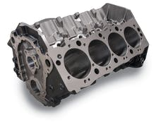 Edelbrock 450000 ENGINE BLOCK GM BBC SIAMESE 4.50in. BORE 9.80in. DECK HEIGHT CAST IRON 2pc REAR