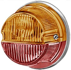 Hella Inc 001259261 1259 Amber/Red Turn/Tail Lamp with Chrome Base