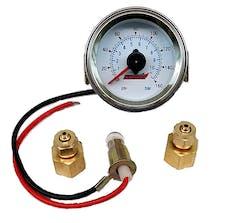 Kleinn Automotive Air Horns 1023 Dual Needle 160 PSI Panel-Mount Illuminated Pressure Gauge