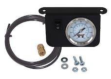 Kleinn Automotive Air Horns 1301 Illuminated 160 PSI Single Needle Dash Panel Gauge Kit with ON/OFF Switch