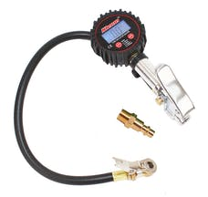 Kleinn Automotive Air Horns 59830 Tire inflator with 160 PSI digital air gauge and pressure relief.