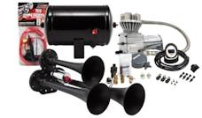 Kleinn Automotive Air Horns HK3 Pro Blaster™ Triple Air Horn Kit w/130 PSI Sealed Air Compressor/1.0 gal tank