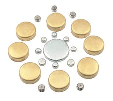 Mr. Gasket 6481 BRASS FREEZE PLUG KIT SB CHEV