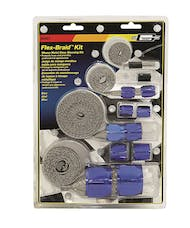 Mr. Gasket 8091 BRAIDED HOSE SLEEVE KIT-BLU