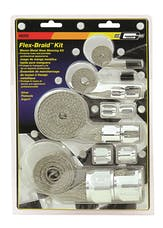 Mr. Gasket 8092 BRAIDED HOSE SLEEVE KIT-SILV
