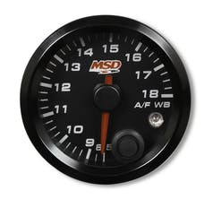 MSD Performance 4650 2-1/16? Standalone Wideband Air/Fuel Gauge; Black Face