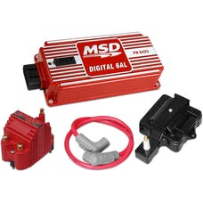 MSD Performance 85001 SUPER HEI KIT WITH DIGITAL 6AL; BLASTER SS COIL; HEI ADAPTER AND 8.5MM COIL WIRE