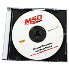 MSD Performance 9607 Wiring Diagrams and Tech Notes; CD Rom