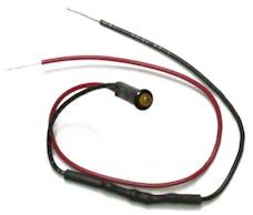 Painless 80200 1/8in. LED Dash Indicator Light/Amber