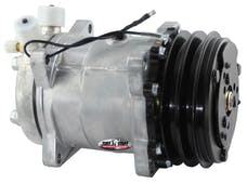Tuff Stuff Performance 4505NCDP Sanden style A/C compressor 508 R12 double pulley Factory Cast PLUS+