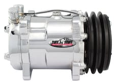 Tuff Stuff Performance 4515NBDP SANDEN STYLE A/C COMPRESSOR 508 R134 DOUBLE PULLEY POLISHED