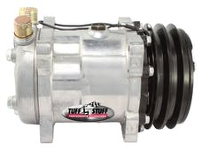 Tuff Stuff Performance 4515NCDP Sanden style A/C compressor 508 R134 double pulley Factory Cast PLUS+