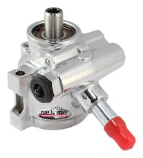 Tuff Stuff Performance 6170ALD-3 Type II power steering pump; chrome; w/return tube; through hole mtg and bottom