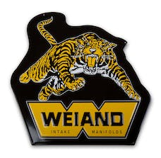 Weiand 10009WND SIGN; WEIAND TIGER-METAL