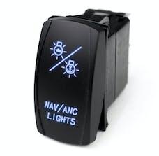 Race Sport Lighting MSTLS27B LED Rocker Switch w/Blue LED Radiance - NAV Lights