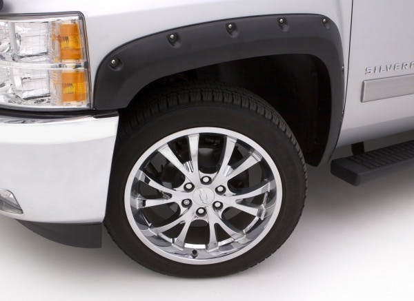 LUND RX106T Rivet Style Fender Flare Set - Front and Rear, Textured, 4-Piece Set RX-RIVET STYLE 4PC TEXTURED