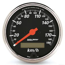"AutoMeter Products 1487-M 3-1/8"" Speedometer, 190 KPH, Electric, DB Chrome Bezel"