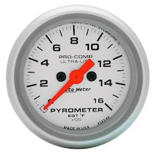 "AutoMeter Products 4444 2-5/8"" E.G.T. Pyrometer Kit, 0-1600"