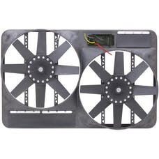 "Flex-A-Lite 295 Fan Electric 13 1/2"" dual shrouded puller w/ variable speed control"